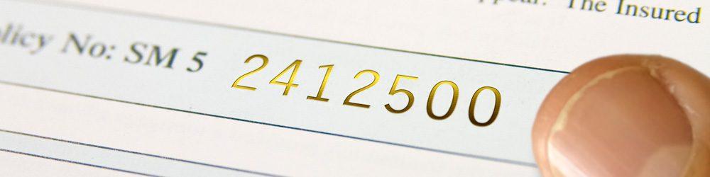 Gold Foil Numbering