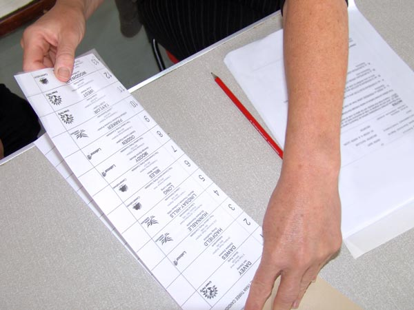 Ballot Papers Numbered